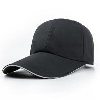 帽子光板 男士春天鸭舌帽光版棒球帽女士加长帽檐纯色防晒遮阳帽