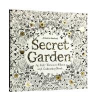 预订 秘密花园 涂色书 英文原版 Secret Garden 中缝可平摊