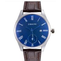 蓝光玻璃大气时尚男手表带日历 手表 高品质真皮手表男表