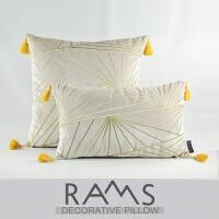 中式绿色抱枕靠垫套不含芯客厅沙发靠包靠枕丝绒腰枕简约现代