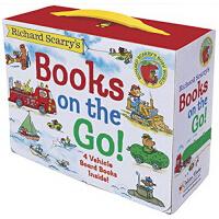 【现货】英文原版 Richard Scarry's Books on the Go 理查德斯凯瑞木板书4册套装 儿童认