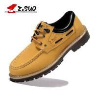 Z.Suo/走索英伦男鞋大头鞋男士休闲鞋板鞋工装鞋透气低帮潮鞋男ZS1806