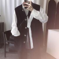 【秋冬新品】高端专柜品牌短句先生秋季百搭黑色马甲男秋季搭配好看的坎肩工装外套背心 黑色