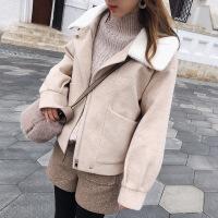 2019新款毛呢外套女短款冬�b新款�n版直筒型加厚赫本�Lchic流行大衣 燕��色