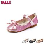【3折价:149.4元】百丽Belle童鞋19新款儿童时装鞋女童蝴蝶结皮鞋时尚潮流返校鞋(5-12岁可选)DE1016