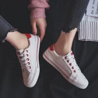 2018冬季新款帆布鞋女小白鞋原宿ulzzang韩版学生百搭布鞋板鞋