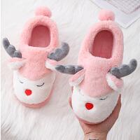 棉拖鞋室内防滑家用男女厚底包跟保暖防滑月子鞋冬季情侣毛毛棉鞋