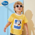 【99元3件】迪士尼宝宝男童短袖T恤针织上衣全棉正品童装2020夏季新品