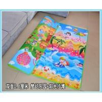 宝宝爬行垫加厚爬爬垫小孩泡沫地垫婴儿童游戏地毯家用客厅可折叠 0.6厘米回型双面 梦幻+阳光沙滩