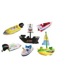儿童玩具遥控 电动船非遥控快艇帆船宝宝洗澡泳池戏水儿童电动船玩具 官方标配