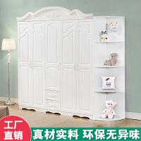 简易经济型欧式板式非实木质卧室组合衣柜二2三3四4五5白色大衣橱