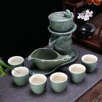 全半自动功夫茶具套装家用紫砂石磨懒人防烫泡茶器壶整套茶杯