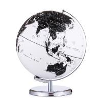 办公室家居装饰礼品摆件黑白地球仪学生用25cm高清欧式复古地球仪