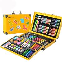 儿童画笔绘画套装小学生水彩笔画画工具美术学习用品女孩生日礼物 159件三层绘画套装黄色