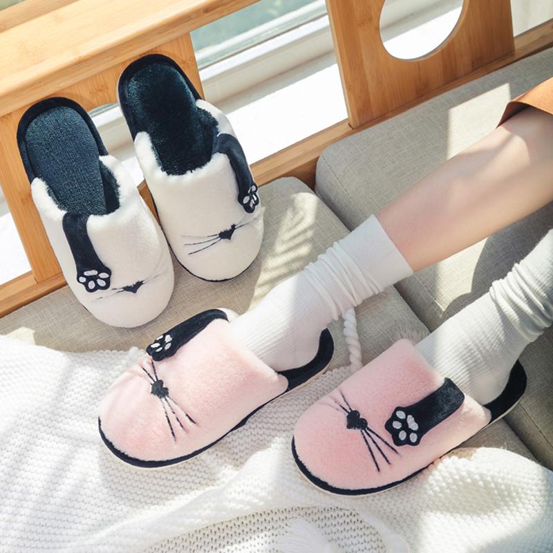 棉拖鞋女士冬季家用室内情侣防滑可爱卡通保暖毛绒秋冬家居男冬天