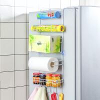 2019新款 创意厨房置物架多功能六层冰箱侧挂架厨房收纳架调味料架家居用品 六层冰箱挂架(送辅助贴)