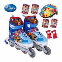 DISNEY/迪士尼正品儿童溜冰鞋闪光旱冰鞋套装直排轮滑鞋滑冰鞋