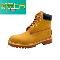 新品上市马丁靴潮高帮男士靴子大头工装鞋中帮男靴踢不烂防水大黄靴