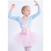 夏季少儿舞蹈服儿童芭蕾舞裙短袖女童中国舞服装