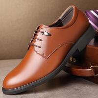男士皮鞋潮流时尚商务休闲鞋英伦系带男鞋正装鞋男加绒