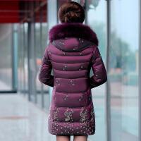 新年特惠中老年妈妈装羽绒服女中长款40-50岁大码中年女加厚老年人冬外套