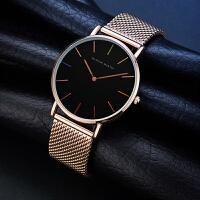 日本机芯不锈钢网带创意手表女士watch防水石英手表
