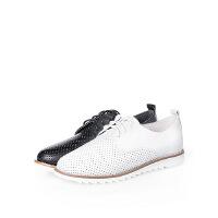 【 限时4折】爱旅儿哈森旗下一脚蹬懒人鞋镂空韩版平跟板鞋女ES75306