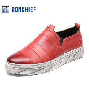 红蜻蜓旗下品牌  HONCHIEF 男鞋休闲鞋秋冬鞋子男板鞋KTA1011