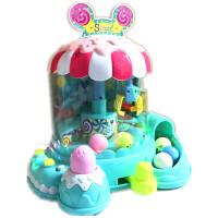 小孩子儿童抓娃娃机玩具夹公仔机小型迷你家用糖果机抓抓乐扭蛋游戏 生日礼物