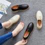 ZHR2019春季ins森女系小皮鞋女英伦风平底休闲鞋复古真皮单鞋