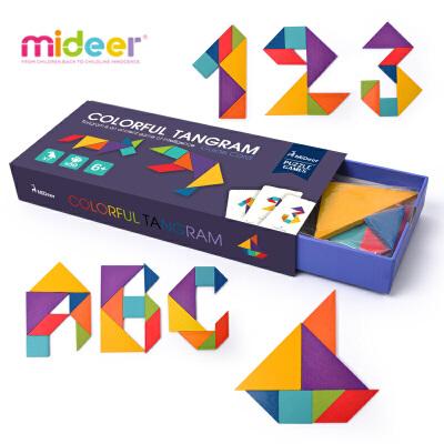 弥鹿(MiDeer)儿童益智玩具3-6岁创艺七巧板几何认知智力拼图七巧板拼图 益智趣玩 培养几何认知 !