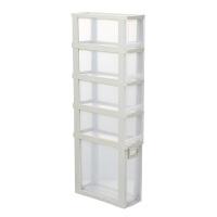 夹缝置物架 厨房冰箱夹缝收纳置物架落地多层抽屉式浴室整理架塑料缝隙柜