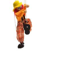 提线木偶儿童玩具 拉线人偶小丑 木制吊线匹诺曹玩偶