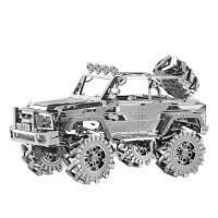 越野车3D立体金属拼图汽车模型玩具创意礼物 银色 (越野车)