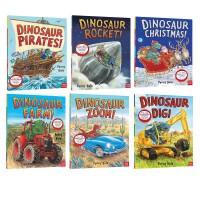 【全店满300减80】 超级恐龙系列5册英文原版 Dinosaur Farm/Zoom/Dig/Rocket 格林威大奖作家Penny Dale 超好玩的恐龙冒险故事官方音频