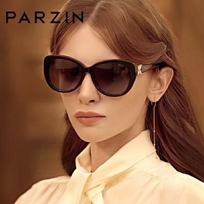 帕森太阳镜女经典板材偏光墨镜蝴蝶腿水钻驾驶太阳眼镜9612