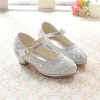 秋季女童皮鞋 儿童高跟单鞋 牛筋底小公主皮鞋