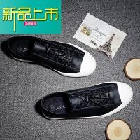 新品上市男鞋子韩版潮流皮鞋男休闲鞋男板鞋系带简约男士青年英伦商务单鞋