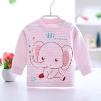 新生儿女宝宝内衣0-3个月春秋冬季4男婴儿5秋衣6幼儿t恤9上衣
