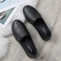 妈妈鞋软底单鞋中老年女鞋奶奶滑舒适平底皮鞋春秋款老人鞋