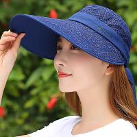 帽子女鸭舌帽夏季太阳帽可折叠户外遮阳帽防晒帽
