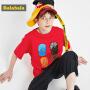【5折价:44.95】巴拉巴拉男童t恤新款夏装儿童短袖中大童童装纯棉时尚上衣潮