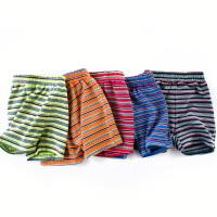 儿童条纹短裤夏季男童五分裤纯棉薄款休闲裤
