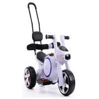 儿童电动三轮车新款儿童电动车摩托车小孩三轮车手推玩具车可坐骑男女宝宝电瓶车ZQ141 绿色 自动挡+18首歌+护栏推把