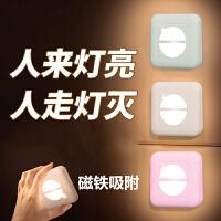 智能人体自动感应LED小夜灯充电卧室床头家用过道人来即亮墙壁灯