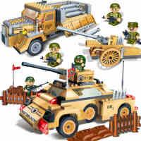 邦宝 军事战争儿童益智积木玩具塑料拼插 闪电卡车导弹车 回力车,闪电卡车8232