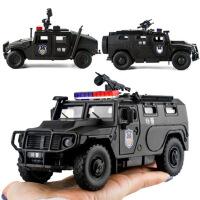 汽车模型玩具大号1/32防暴车虎式装甲车声光特警合金警车男孩