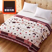 毛毯冬季珊瑚绒加厚法兰绒毯子床垫床单单件毛绒单人双人铺床k