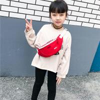 儿童腰包女童斜挎包时尚小包男童单肩零钱包休闲宝宝胸前包潮