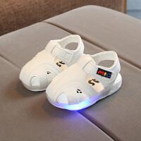 夏季小宝宝鞋婴儿防滑软底学步鞋0-1-2岁男女童透气包头凉鞋幼儿